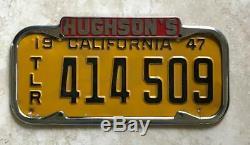 Ford Corner Hughson Concessionnaire San Francisco, Ca Plaque Originale Licence Cadre
