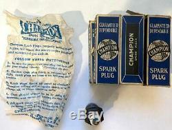 Ford Vintage Original Champion Spark Plugs C7 Lot De 6 Boîtes Inclus Nos