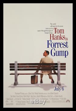 Forrest Gump Transit 1 Feuille Spéciale Affiche Du Film De Crédit Boîte & Blanc Imprimé