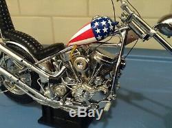 Frankln Mint Rider Captain America Facile Harley-davidson Dans La Boîte D'origine