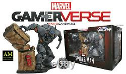 Galerie Marvel Gamerverse Spider-man Ps4 Rhino Deluxe Statue En Pvc Newithboxed