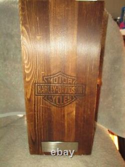 Harley Davidson 36oz Whiskey Classic Decanter Avec Boîte En Bois Originale