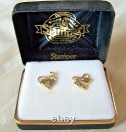 Harley Davidson Black Hills Earrings 10k Gold Stamper Original Boxed