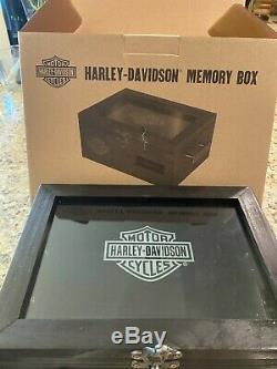 Harley-davidson Boîte De Mémoire En Bois. Limité. Nouveau Dans La Boîte Originale 11x8x5
