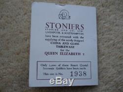 Janvier 1969 Queen Elizabeth 2 Ltd Edition Stuart Cristal Verre À Vin Et Boîte D'origine