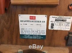 K & E Keuffel Esser Co. De New York Transit Survey Boîte Originale Et Trépied