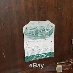Keuffel & Esser Co. Transit Enquête Originale Boîte En Bois Antique 5085c Full Circle