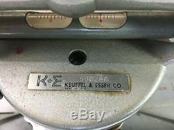 Keuffel & Esser Co. Transit Enquête Sur La Boîte Originale Antique Full Circle
