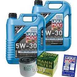Kit D'inspection Filtre Liqui Moly Huile 10l 5w-30 Pour Ford Transit Box E
