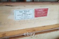 L. S. Starrett Leveling Instrument Withtelescope Transit Original Box & Accessori