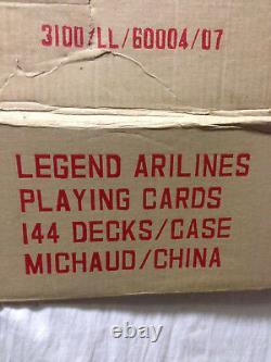 Legend Airlines 144 Decks Scellés Jouant Aux Cartes Cas Complet Dans La Boîte Originale