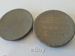 Liberte Ligne Française, Médaille De Bronze, Monnaie, Boîte D'origine, Le Transport, Maritime