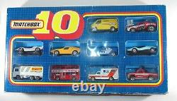 Matchbox 10 Pack Ensemble Cadeau. Encadré. Inc Ford Rs200 & Transit. Rare Original