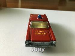 Matchbox Transitional Superfast #59 Fire Chief Car Nice In Original F Box Lot 37