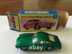 Matchbox Transitional Superfast #75 Ferrari Rare Green Original G Box Lot 7