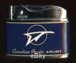 Minty, Unfired 1950 Lignes Aériennes Canadien Pacifique Lighter Par Dragon Dans Boîte D'origine