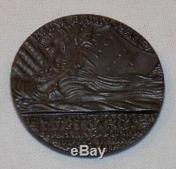 Naufrage Lusitania Allemande Médaille Propagande Par Karl Goetz Boîte Originale Et Dépliant