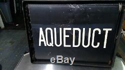 Nyc Vrai Antique Subway Rouleau Connexion Boîte D'origine. Achevée! Rare. 27 Noms
