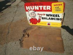 Original 1961 Hunter Roue Balancer Balancing Garage Concessionnaire Dist Signe Withbox