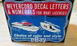 Original Vintage 1958 Meyercord Boat Decal Sign Case Box Publicité Outboard