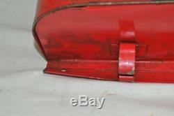 Original Vintage Fusées & Topedoes Chemin De Fer Rouge Boîte De Rangement