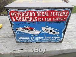 Original Vintage Meyercord Boat Decal Sign Case Box Publicité Neat Outboard