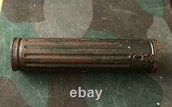 Origine Ww2 Relic Transport Armée Allemande Boîte Ronde / Case Pour L'artillerie