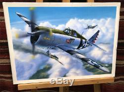 P-47d Thunderbolt Originale Box Top Modèles Revell Art Studio Peinture Impressionnant