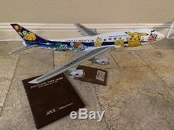 Pacmin Ana Pokemon Jet 1/100 1998 Boeing 747-400d Nouveau Avec Le Livre Et La Boîte Originale