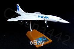 Pan Am Concorde Inflight 1200 Aéromodélisme Métal Complet N528pa Boîte D'origine
