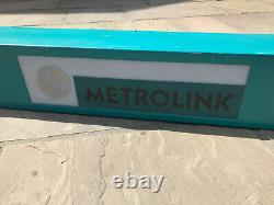 Panneau Lumineux Original Manchester Metrolink Train Tram Adertising Box Railwayana