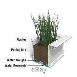Planteur De Patio De 12 Po. X 60 Po. Blanc Pot Flower Garden Herb Arrosage Auto