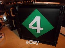 R17 Nycta Vintage Nyc Subway Sign Ny Rouleau Complet Original Connexion Box Gear Works