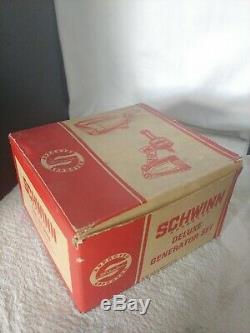Rare! 1966-1967 Schwinn Générateur Deluxe Set In Box D'origine. Feu Arrière Manquant