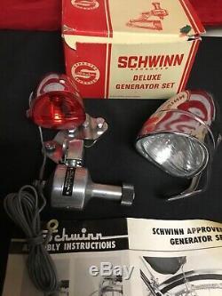 Rare. 1966 Schwinn Générateur De Luxe Et Light Set. Monnaie Dans La Boîte Originale! Vélo