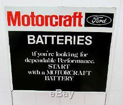 Rare 70 Original Ford Motorcraft Batterie Affichage Rack Signe Et Boîte Wow