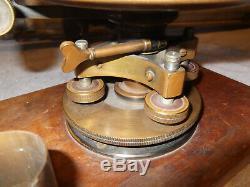 Rare Antique K & E Keuffel Esser Co. De New York Transit Survey Boîte Originale Et Trépied
