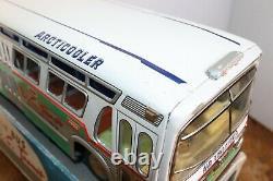 Rare Asahi Atc Japan Friction D.c. Transit Fishbowl Bus With Original Box