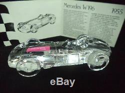 Rare Atlantis Crisal 1955 Mercedes W196 Voiture De Course F1 Cristal Plombé Boîte D'origine