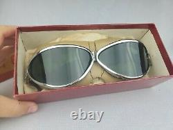 Rare Indian Motorcycle Rocket Lunettes Green Lens & Chrome With Original Box
