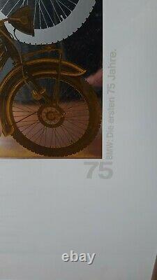 Rare Original 75 Ans Bmw, Modèle R32, Impression Limitée 1998 Dans Le Cadre Avec Boîte