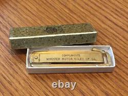 Rare Original Whizzer Motor Sales Pocket Knife Nouveau Dans La Boîte
