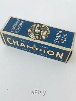 Rare Vtg Champion Spark Plug-j7 Boîte De 10 Dans La Boîte Originale Ford Model A