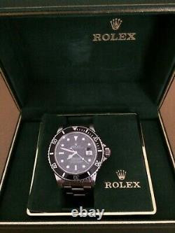 Rolex Submariner Transitional Ss Date 16800 1987 Original Owner Box Docs
