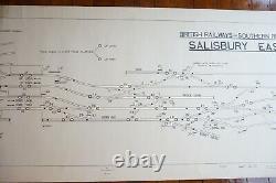 Salisbury East Original Signalling Signal Box Sidings Railway Plan Diagram