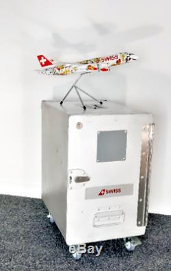 Service D'origine Air Swiss Trolley Box Panier Boîte Atlas Inkl. Innenleben