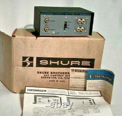Shure Stereo Preamplifier M64 Train Amtrak Original Paper Box Rare New Old Stock
