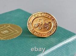 Solide 10k Or General Motors Gm Retirement Lapel Pin Avec Boîte Originale