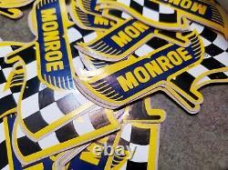 Stickers Original De Course Vintage Publicité Shocks Monroe W Boîte De Revendeur Originale