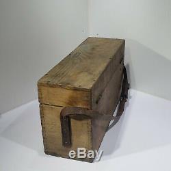 Transit Vintage Lietz 18 Surveyor Dumpy Niveau Original En Bois Boîte Brass De Bronze